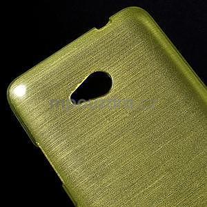 Broušený gélový obal na Microsoft Lumia 640 LTE - zelený - 5