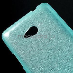 Broušený gélový obal na Microsoft Lumia 640 LTE - modrý - 5