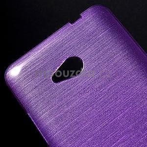 Broušený gélový obal na Microsoft Lumia 640 LTE - fialový - 5