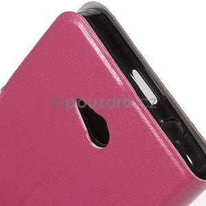 Rose peňaženkové puzdro na Microsoft Lumia 640 LTE - 5
