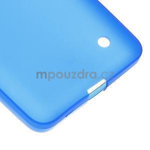 Matný gélový kryt na Microsoft Lumia 640 LTE - modrý - 5