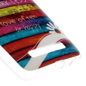 Gélový obal na mobil Asus Zenfone 5 - farby dřeva - 5