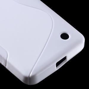 S-line gélový obal pre mobil Microsoft Lumia 550 - biely - 5