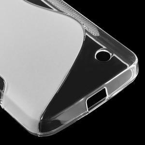 S-line gélový obal na mobil Microsoft Lumia 550 - transparentný - 5