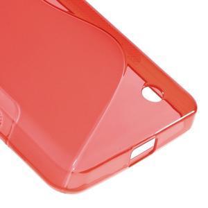 S-line gélový obal pre mobil Microsoft Lumia 550 - červený - 5
