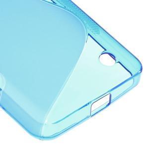 S-line gélový obal na mobil Microsoft Lumia 550 - modrý - 5