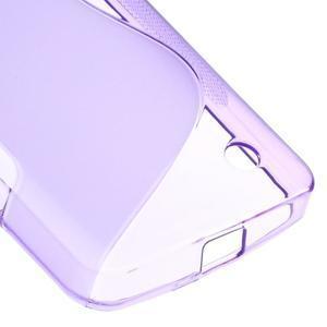 S-line gélový obal pre mobil Microsoft Lumia 550 - fialový - 5