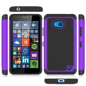 Odolný hybrdiní kryt na mobil Microsoft Lumia 640 - fialový - 5