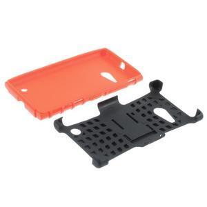 Outdoor odolný kryt na Nokia Lumia 730/735 - oranžový - 5