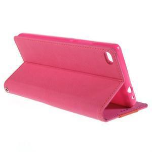 Style peňaženkové puzdro na Huawei Ascend P8 - rose - 5