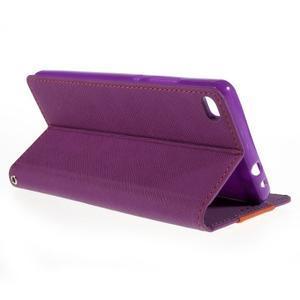 Style peňaženkové puzdro na Huawei Ascend P8 - fialové - 5