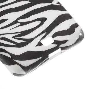Soft gélový obal na Microsoft Lumia 535 - zebra - 5