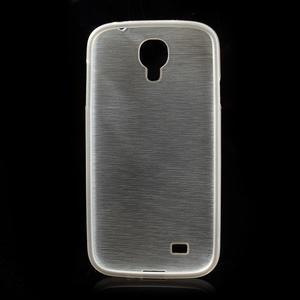 Gélový kryt s brúseným vzorem pre Samsung Galaxy S4 - biely - 5