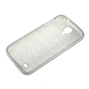 Gélový kryt s brúseným vzorem pre Samsung Galaxy S4 - šedý - 5