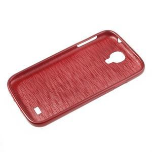 Gélový kryt s brúseným vzorem pre Samsung Galaxy S4 - červený - 5