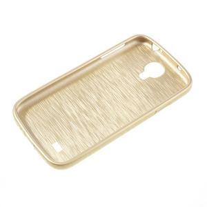 Gélový kryt s broušeným vzorem na Samsung Galaxy S4 - zlatý - 5