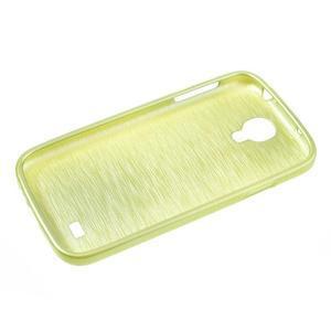 Gélový kryt s broušeným vzorem na Samsung Galaxy S4 - žlutozelený - 5