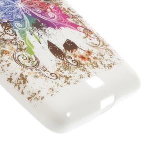 Soft gélový obal na Microsoft Lumia 535 - farebný motýl - 5