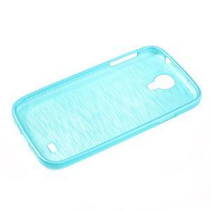 Gélový kryt s brúseným vzorem pre Samsung Galaxy S4 - modrý - 5