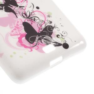 Soft gélový obal pre Microsoft Lumia 535 - elegantný motýľe - 5