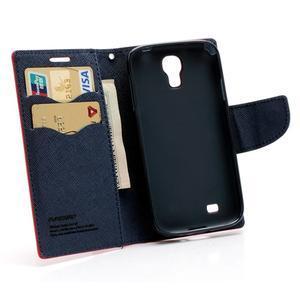Fancy peňaženkové puzdro na Samsung Galaxy S4 - červené - 5
