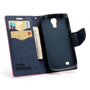 Fancy peňaženkové puzdro na Samsung Galaxy S4 -  rose - 5