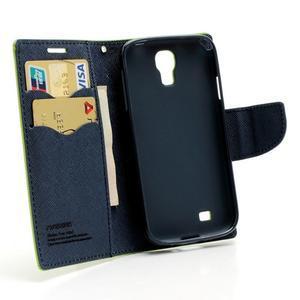 Fancy peňaženkové puzdro pre Samsung Galaxy S4 - zelené - 5