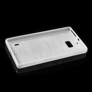 Gélový obal s brúseným vzorem Nokia Lumia 930 - biely - 5