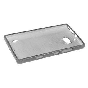 Gélový obal s brúseným vzorem Nokia Lumia 930 - sivý - 5