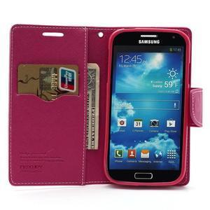 Fancy peňaženkové puzdro na Samsung Galaxy S4 -  růžové - 5