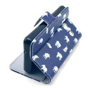 Peňaženkové puzdro na Huawei Ascend Y300 - banda slonů - 5