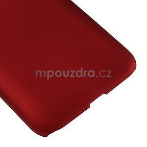 Pogumový plastový obal na Samsung Galaxy Core Prime - červený - 5
