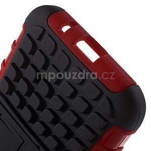 Extrémne odolný obal so stojanom pre Samsung Galaxy Core Prime - červený - 5