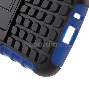 Extrémne odolný obal so stojanom pre Samsung Galaxy Core Prime - modrý - 5