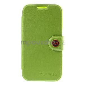 Zapínací peněženkové pouzdro na Samsung Galaxy Core Prime - zelené - 5
