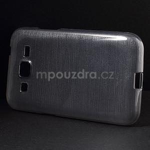 Brúsený gélový kryt pre Samsung Galaxy Core Prime - šedý - 5