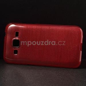 Brúsený gélový kryt pre Samsung Galaxy Core Prime - červený - 5