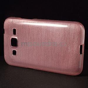 Brúsený gélový kryt pre Samsung Galaxy Core Prime - ružový - 5