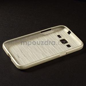 Brúsený gélový kryt pre Samsung Galaxy Core Prime - zlatý - 5