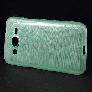 Brúsený gélový kryt pre Samsung Galaxy Core Prime - cyan - 5