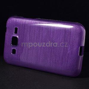 Broušený gelový kryt na Samsung Galaxy Core Prime - fialový - 5