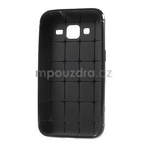 Čierny tečkovaný kryt pre Samsung Galaxy Core Prime - 5