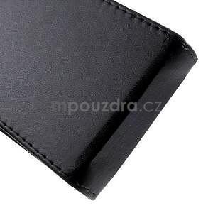 Černé flipové puzdro pre Samsung Galaxy Core Prime - 5