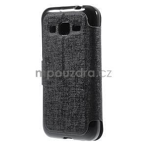 Zapínací peněženkové pouzdro na Samsung Galaxy Core Prime - černé - 5