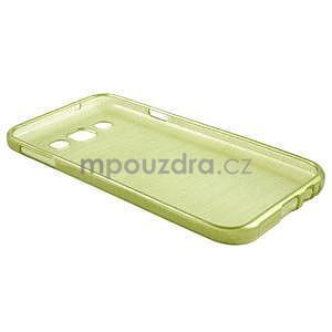 Broušené gélový kryt pre Samsung Galaxy E5 - okrový - 5