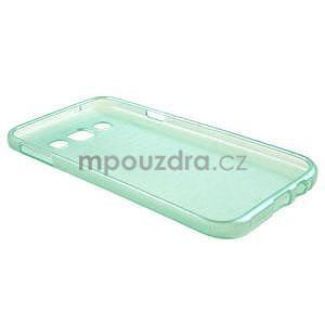 Broušené gélový kryt pre Samsung Galaxy E5 - cyan - 5