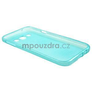 Broušené gélový kryt na Samsung Galaxy E5 - tyrkysový - 5