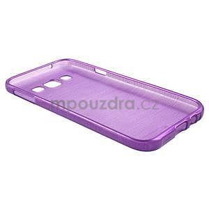 Broušené gélový kryt na Samsung Galaxy E5 - fialový - 5