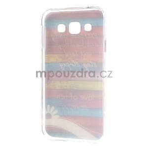 Gélový obal pre mobil Samsung Galaxy E5 - farebné desky - 5
