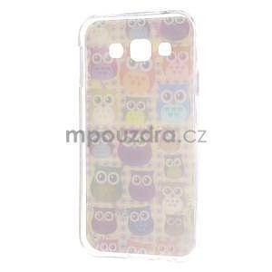 Gélový obal na mobil Samsung Galaxy E5 - sovičky - 5
